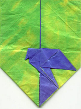 Shield with dove (logo of St. Petersburg Origami Centre)