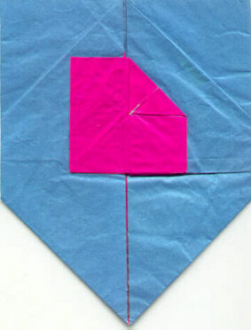 Shield with folded square (logo of Origami Deutschland)